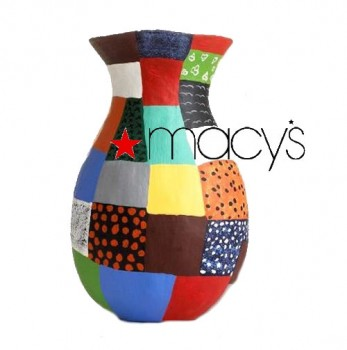 The Haitian art in display at Macy's stores